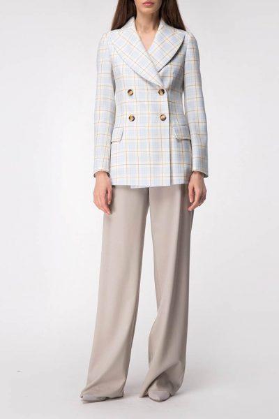 Широкие брюки на высокой посадке SHKO_18034005, фото 1 - в интеренет магазине KAPSULA