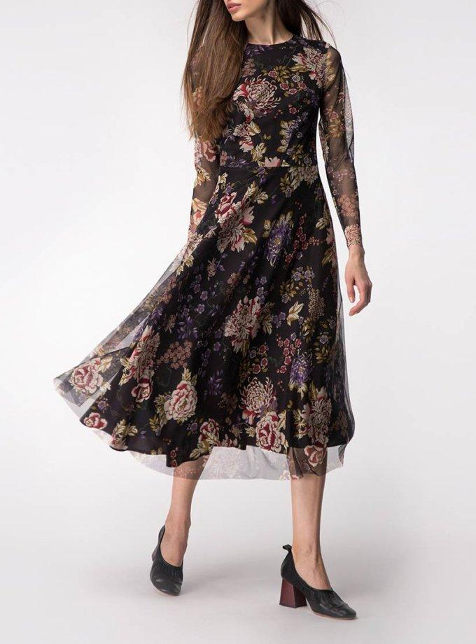 Двухслойное платье на подкладе SHKO_17041009, фото 1 - в интернет магазине KAPSULA