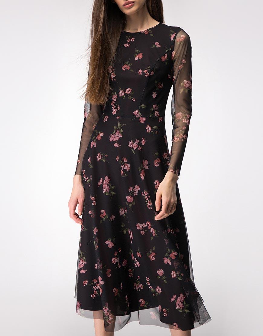 Двухслойное платье на подкладе
