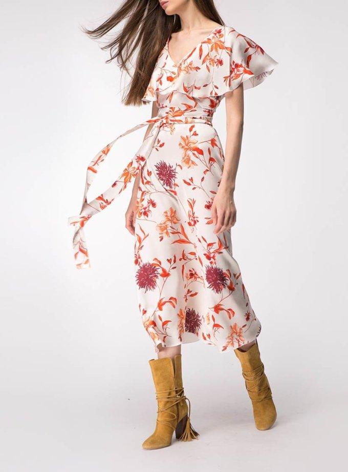 Платье миди с широкими рукавами SHKO_18020002, фото 1 - в интернет магазине KAPSULA