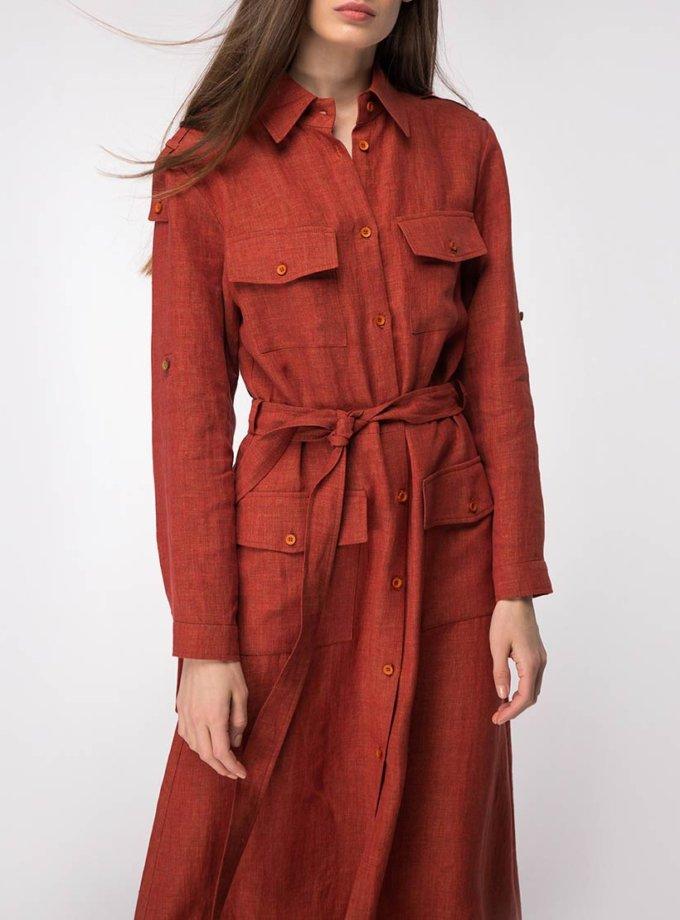 Платье-рубашка из льна SHKO_18027001, фото 1 - в интернет магазине KAPSULA
