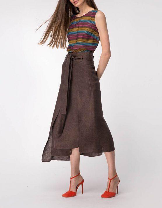 Легкая блуза прямого силуэта SHKO_13076079, фото 5 - в интеренет магазине KAPSULA
