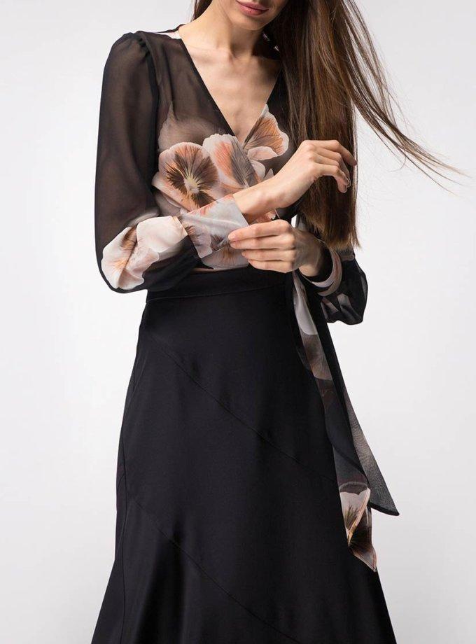 Шелковая юбка миди SHKO_18062001, фото 1 - в интернет магазине KAPSULA