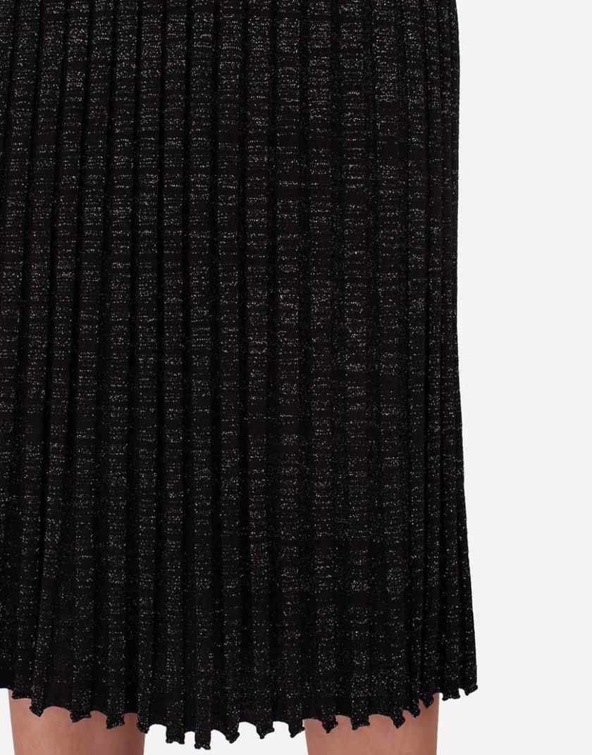 Юбка миди плиссе с люрексом JND_19-090501_black, фото 1 - в интернет магазине KAPSULA