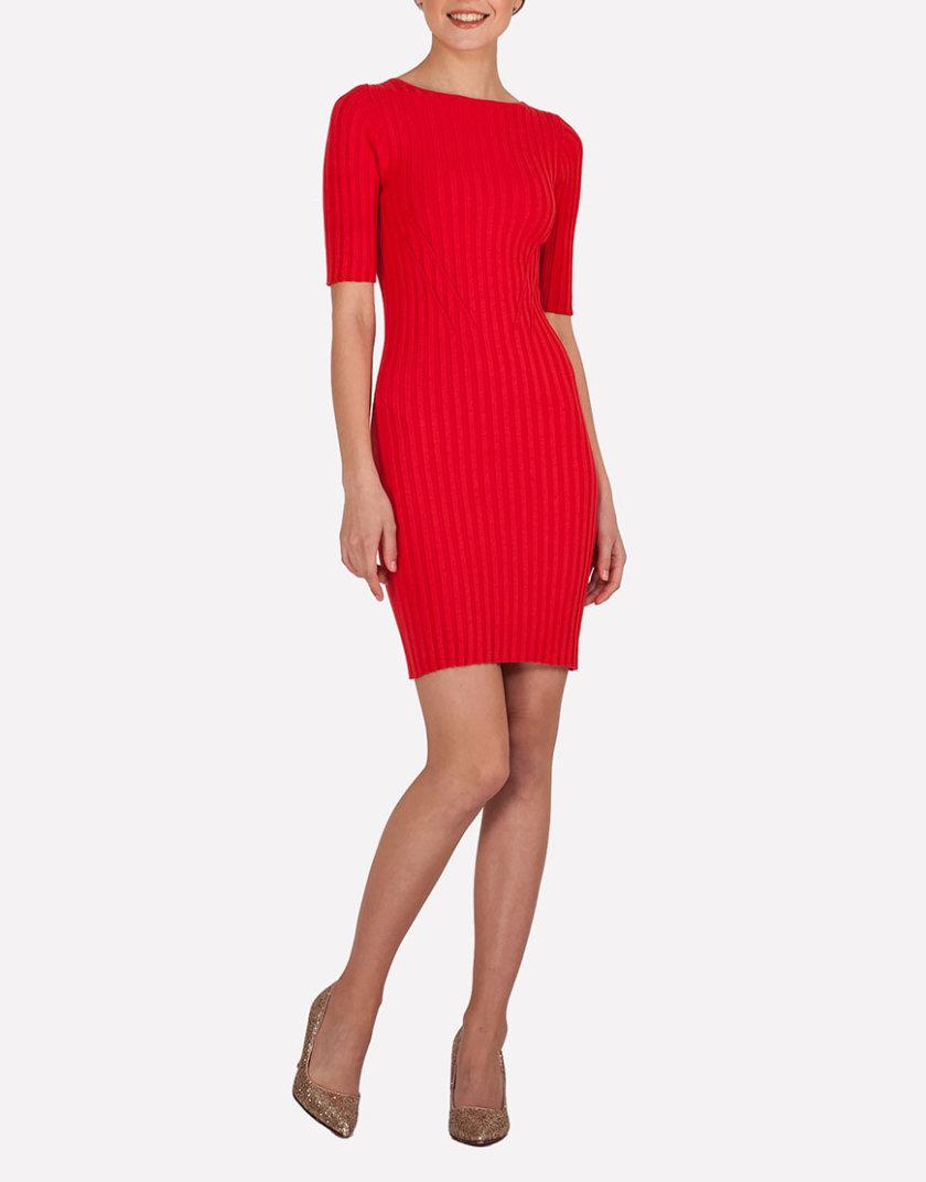 Тонкое вязаное платье мини JND_19-140610_red, фото 1 - в интернет магазине KAPSULA