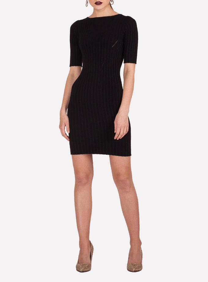 Тонкое вязаное платье мини JND_19-140610_black, фото 1 - в интеренет магазине KAPSULA