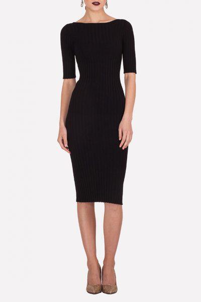 Бесшовное платье-футляр JND_19-140611_black, фото 3 - в интеренет магазине KAPSULA