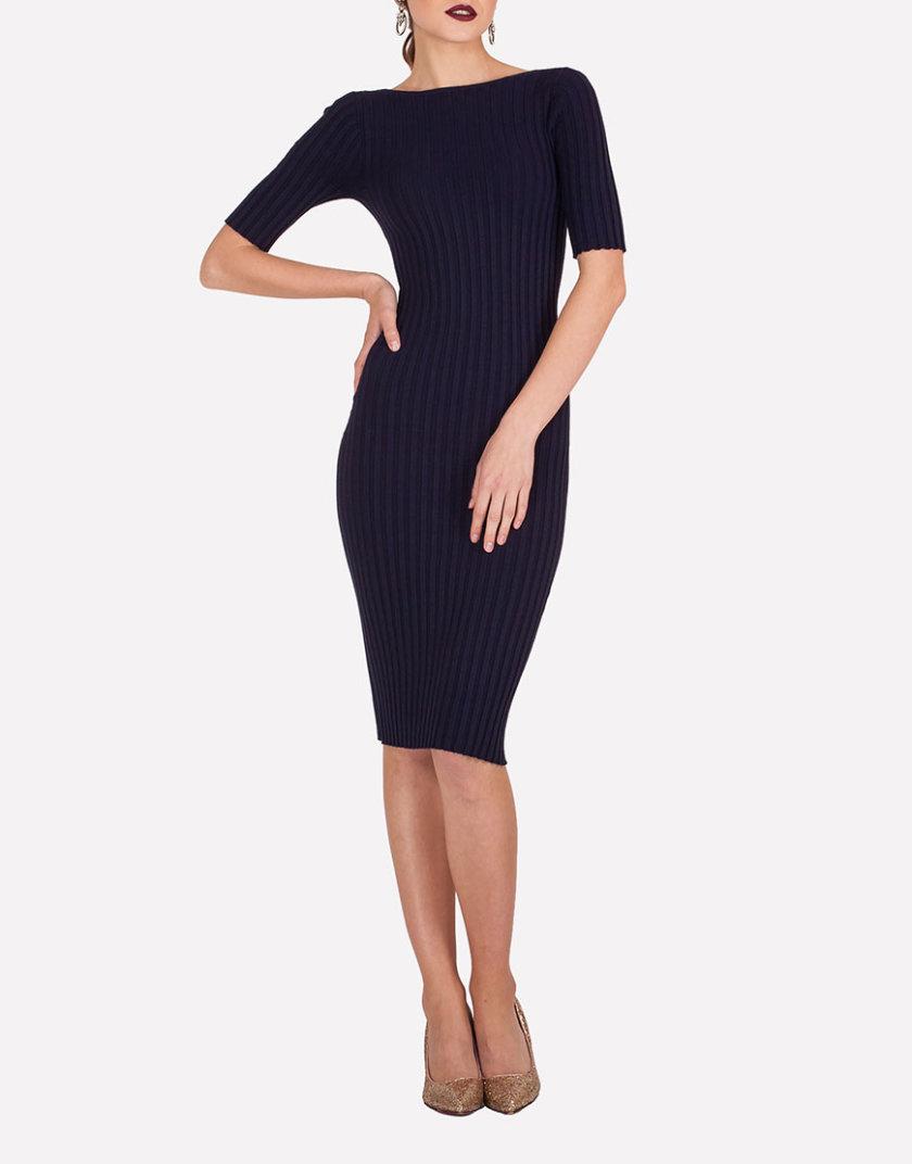 Бесшовное платье-футляр JND_19-140611_blue, фото 1 - в интернет магазине KAPSULA