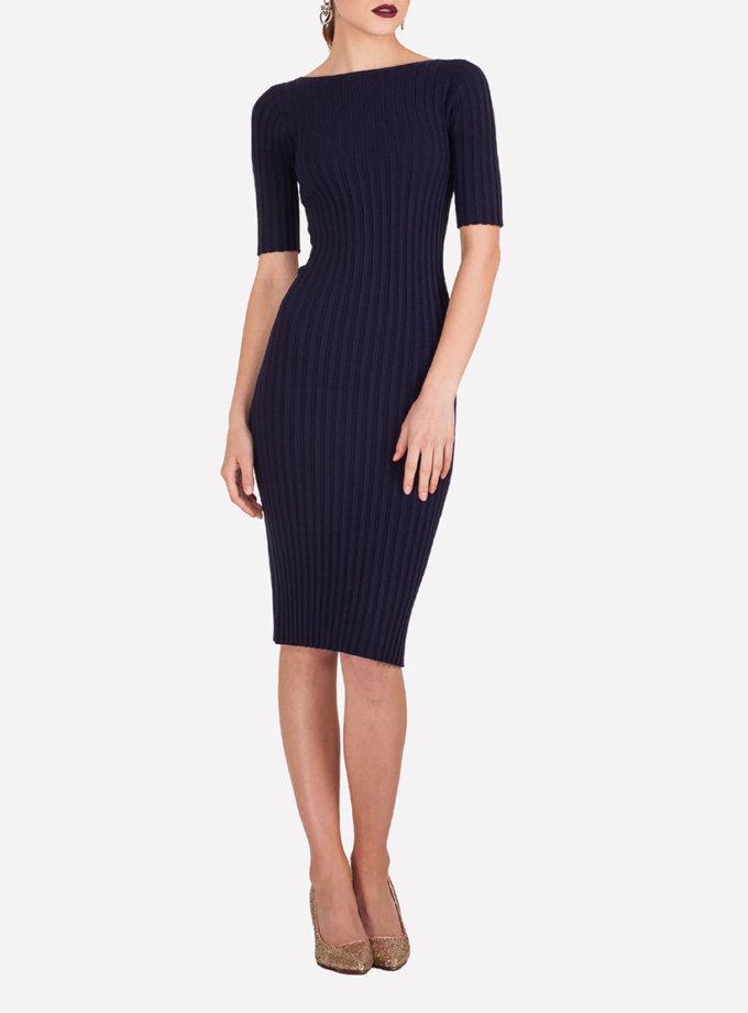 Бесшовное платье-футляр JND_19-140611_blue, фото 1 - в интеренет магазине KAPSULA