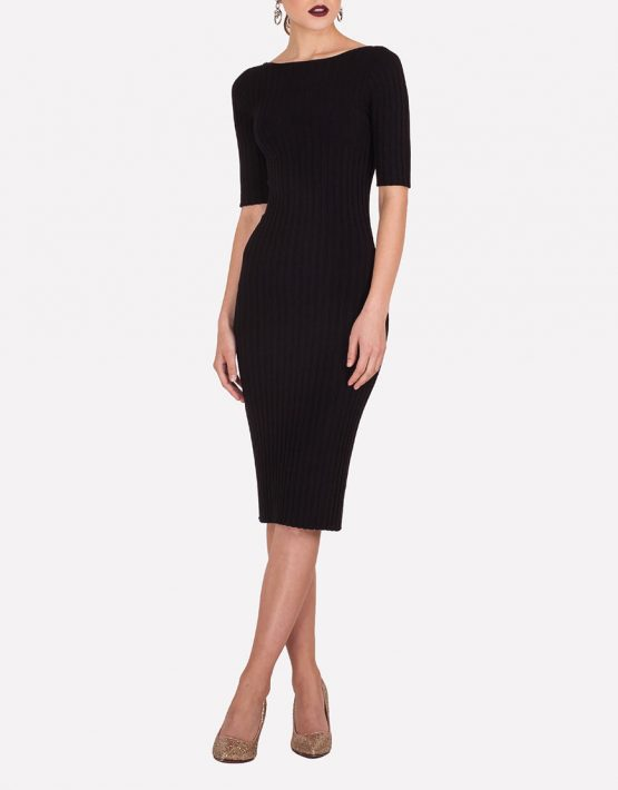Бесшовное платье-футляр JND_19-140611_black, фото 5 - в интеренет магазине KAPSULA