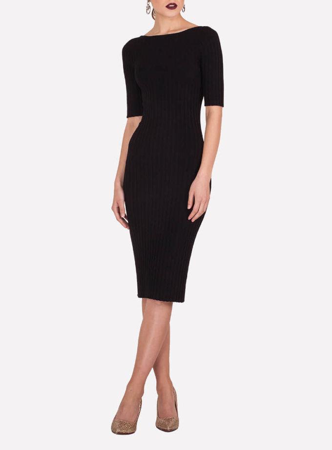 Бесшовное платье-футляр JND_19-140611_black, фото 1 - в интернет магазине KAPSULA