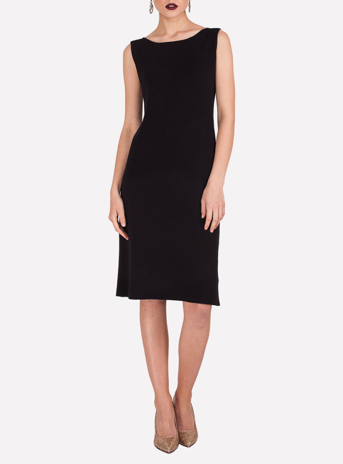 Легкое платье миди JND_19-19-140614_black, фото 1 - в интернет магазине KAPSULA