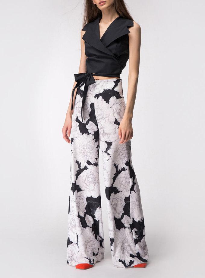 Широкие брюки на высокой посадке SHKO_19004001, фото 1 - в интернет магазине KAPSULA