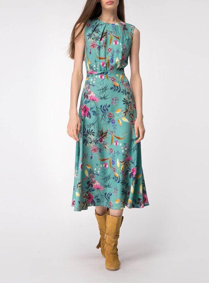 Платье миди в цветочный принт SHKO_19007001, фото 1 - в интернет магазине KAPSULA
