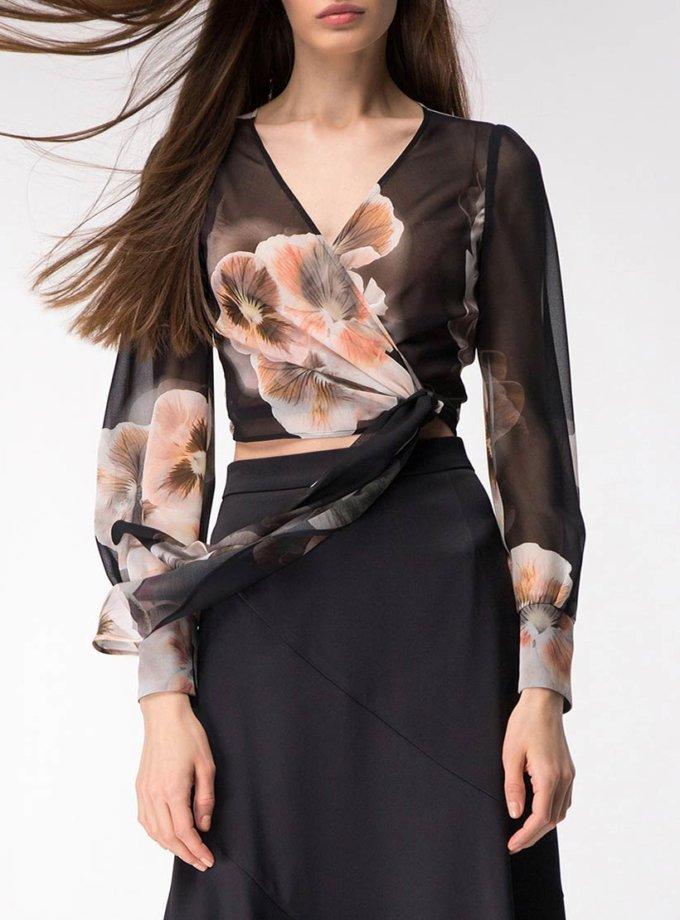 Полупрозрачная блуза на запах SHKO_19012001, фото 1 - в интернет магазине KAPSULA