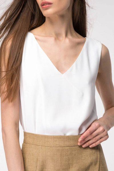 Легкая блуза с разрезами SHKO_19015002, фото 1 - в интеренет магазине KAPSULA