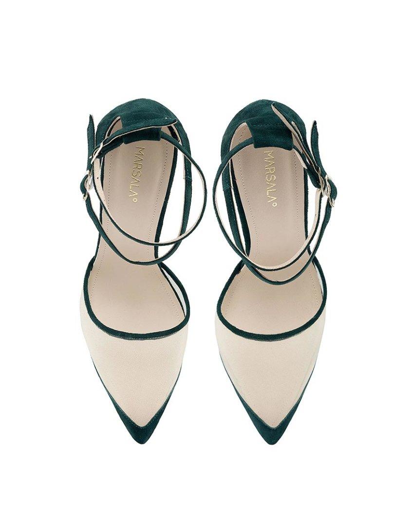 Замшевые туфли Goya Green MRSL_197305, фото 1 - в интернет магазине KAPSULA