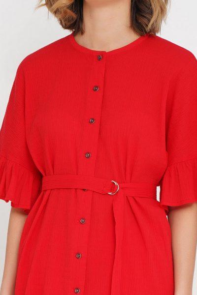 Блуза на пуговицах под пояс AY_2584, фото 6 - в интеренет магазине KAPSULA