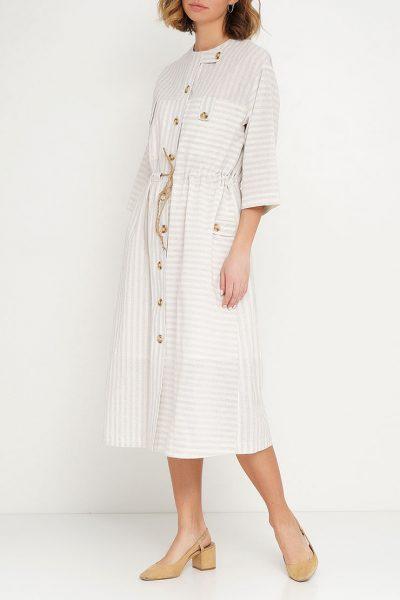 Платье на кулиске из 100% хлопка AY_2615, фото 1 - в интеренет магазине KAPSULA