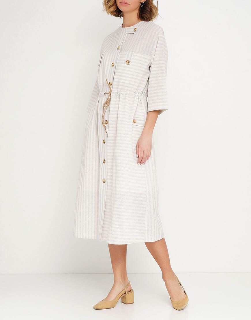 Платье на кулиске из 100% хлопка