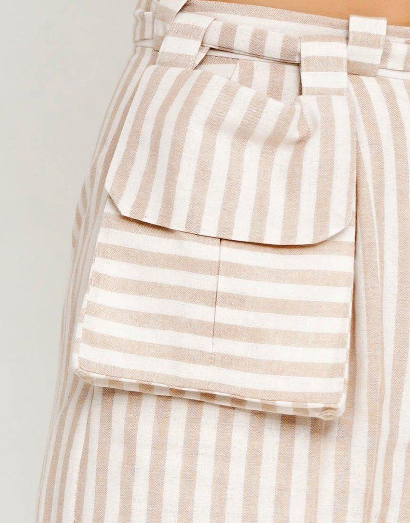 Брюки широкого кроя с сумкой на поясе AY_2617, фото 1 - в интернет магазине KAPSULA