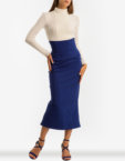 Платье прямого кроя со вставкой гофре SAYYA_FW820, фото 5 - в интеренет магазине KAPSULA