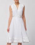Шифоновое платье миди с кружевом NLN_AI3612, фото 2 - в интеренет магазине KAPSULA