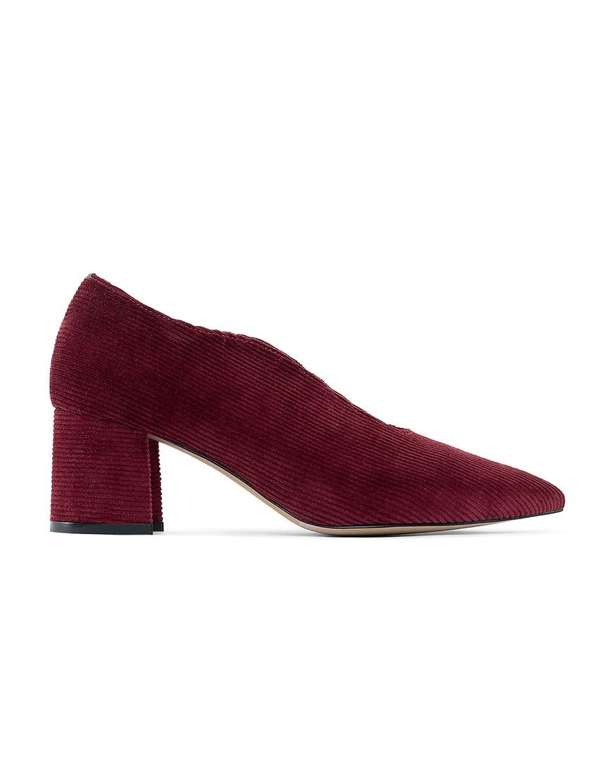 Вельветовые туфли Velvet Бордо