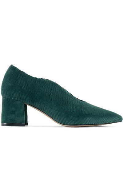 Вельветовые туфли Velvet Зеленый MRSL_717351, фото 5 - в интеренет магазине KAPSULA