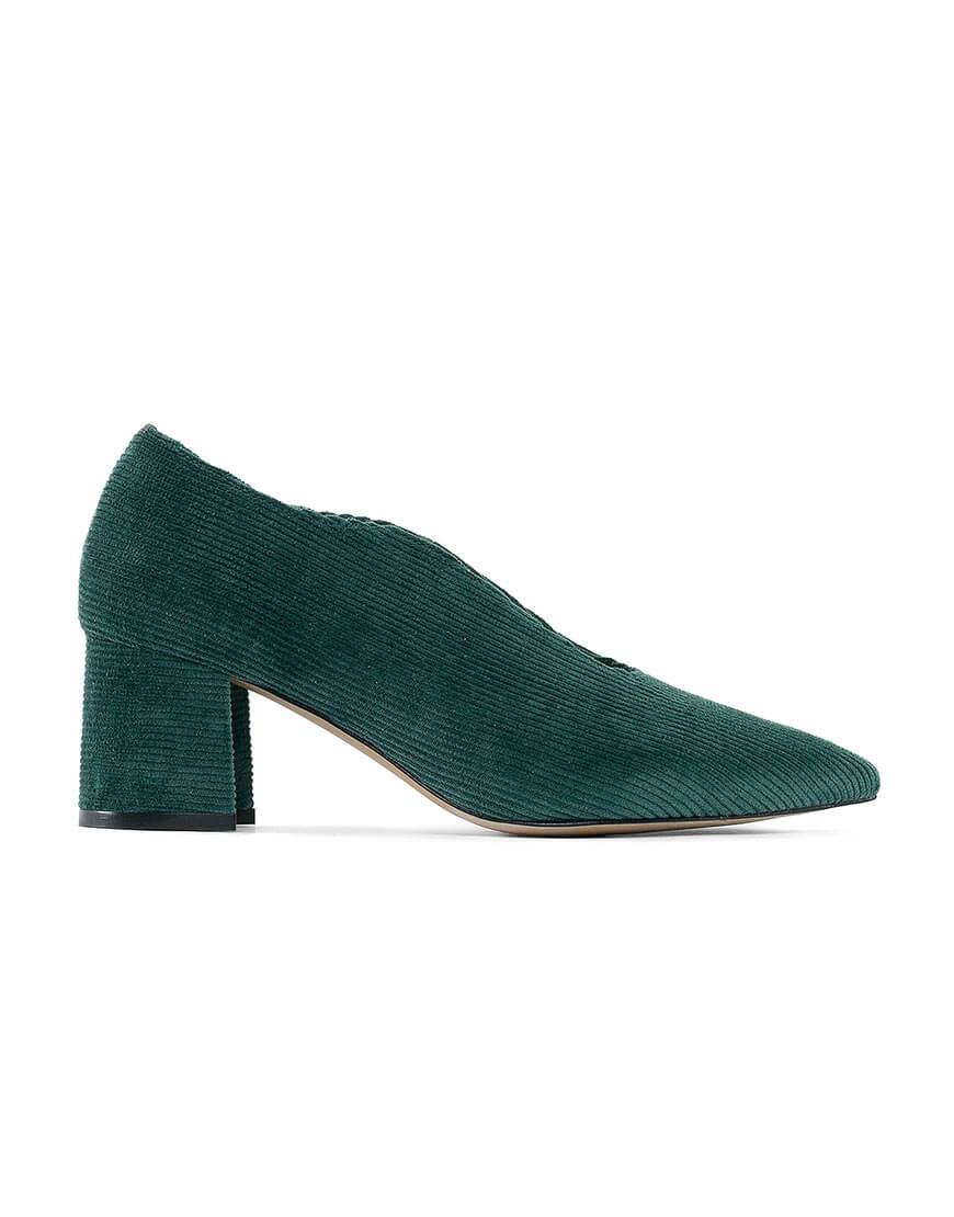 Вельветовые туфли Velvet Зеленый