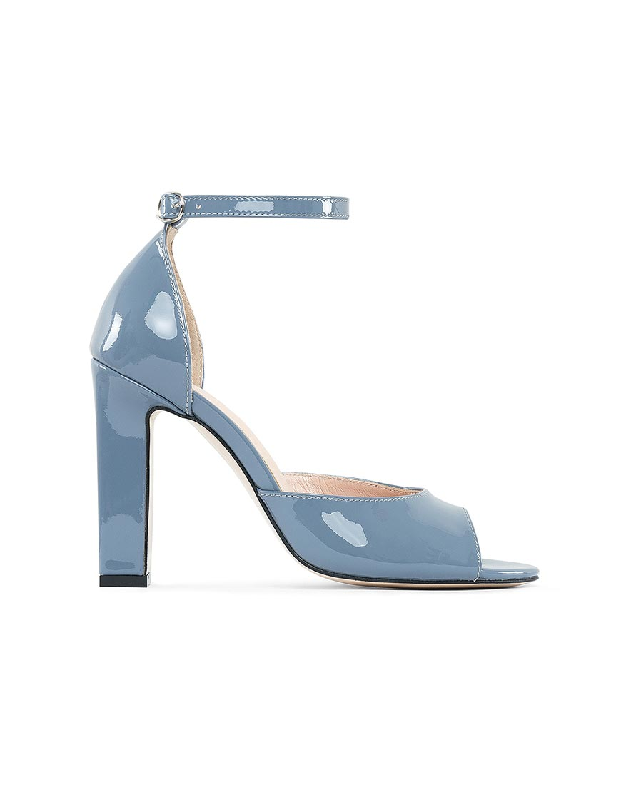 Кожаные туфли Frank Голубой Лак