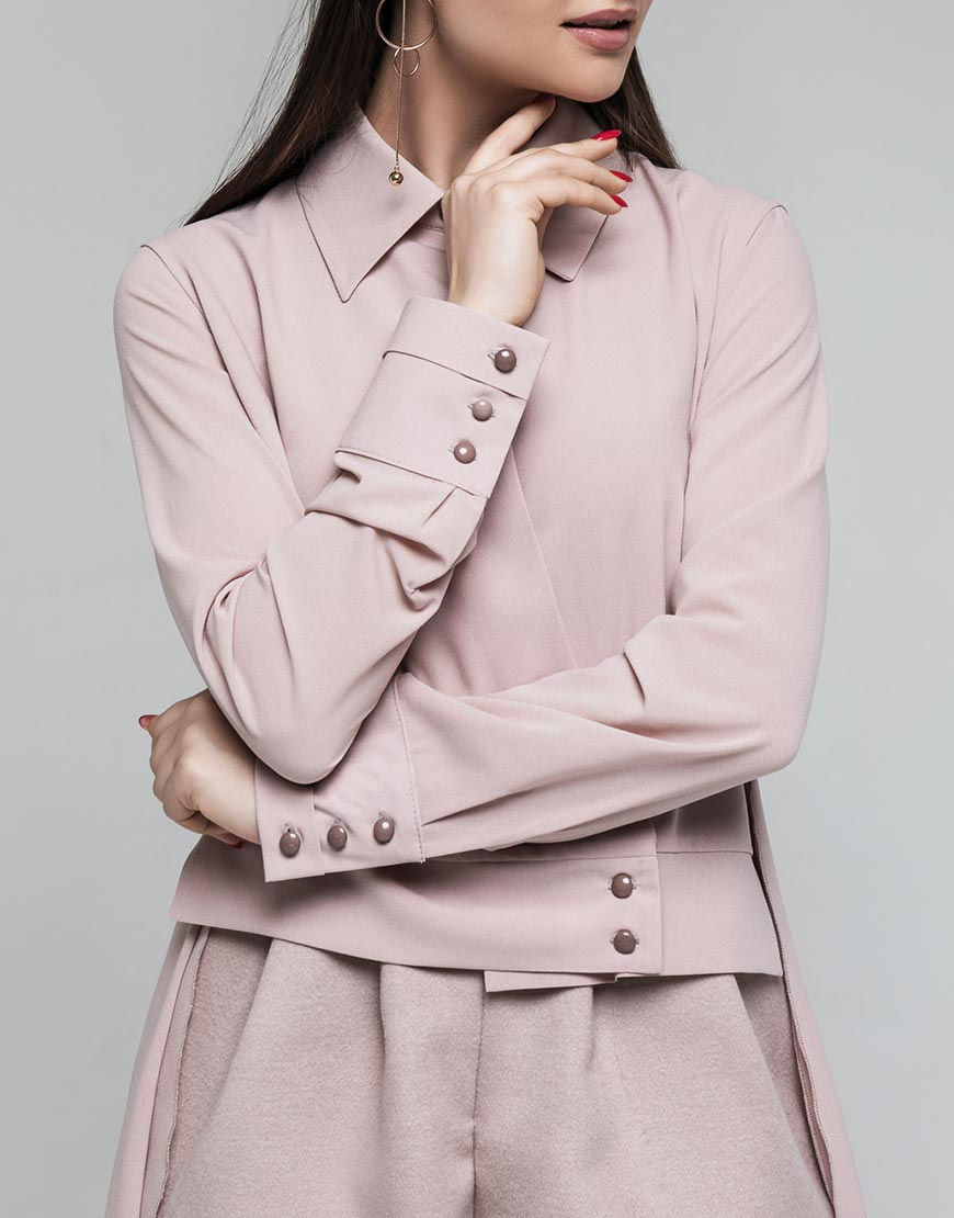 Блуза ассиметричного кроя