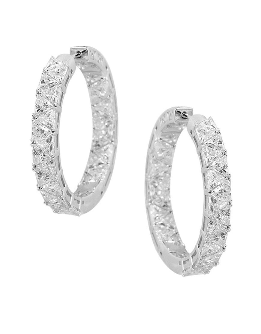 Серьги из серебра с камнями циркония