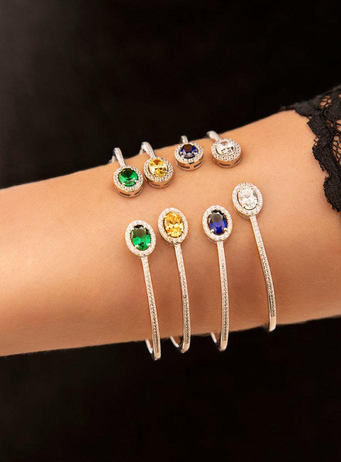 Серебряный браслет с камнями циркония NTKN_CJG1382W-4, фото 1 - в интеренет магазине KAPSULA