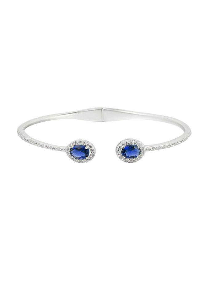 Серебряный браслет с камнями циркония NTKN_CJG1382W-3, фото 1 - в интеренет магазине KAPSULA