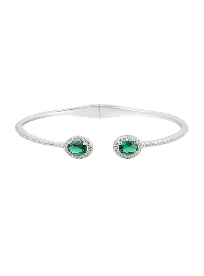 Серебряный браслет с камнями циркония NTKN_CJG1382W-4, фото 1 - в интернет магазине KAPSULA