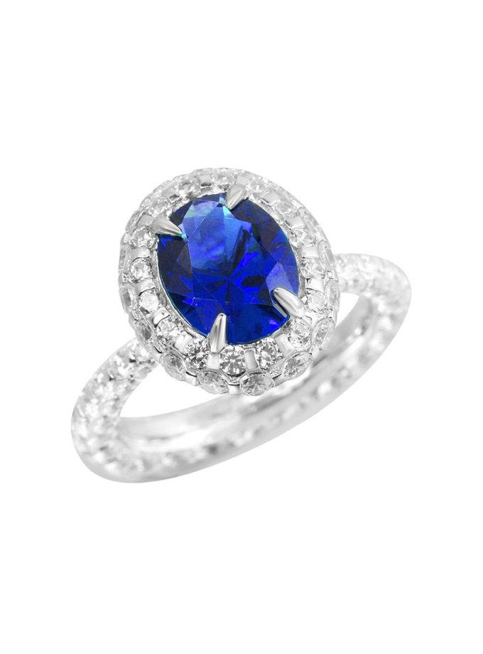 Серебряное кольцо Tsar NTKN_CJR2676W-2, фото 1 - в интернет магазине KAPSULA