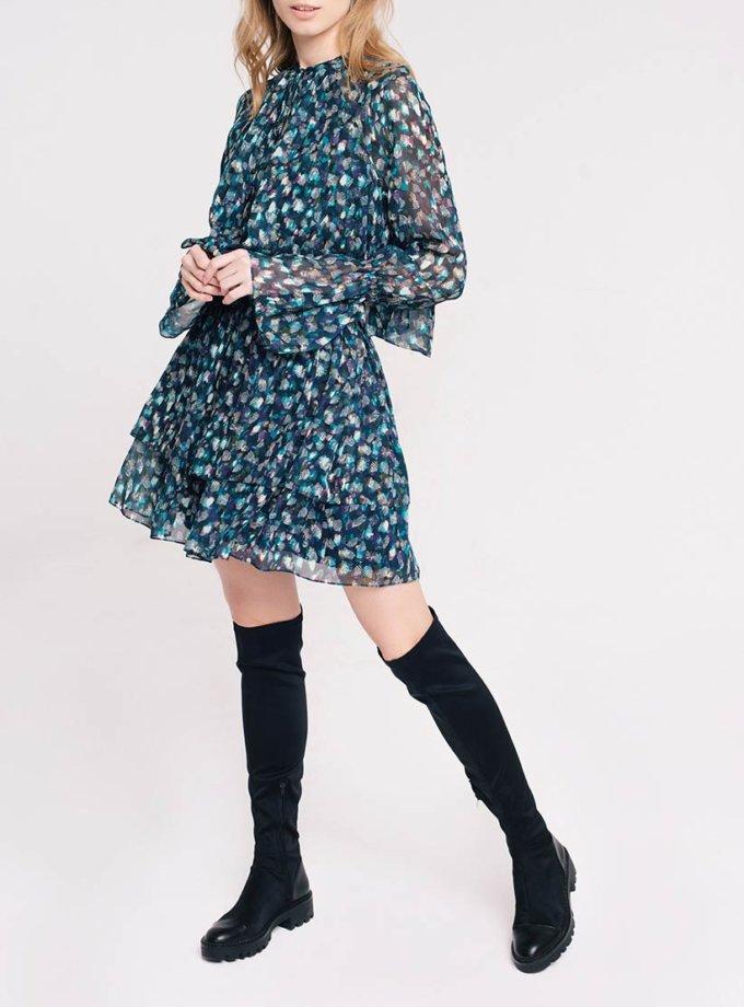 Шифоновое платье мини CYAN_DS_L04, фото 1 - в интеренет магазине KAPSULA