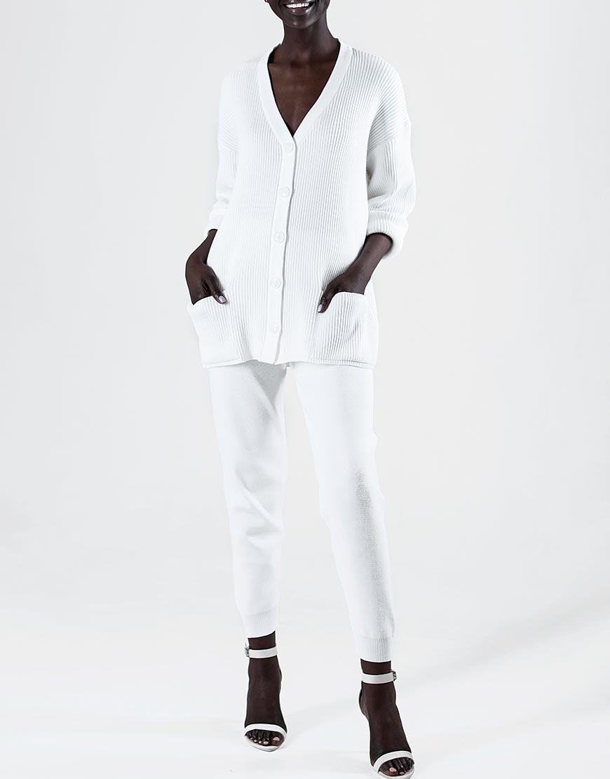 Вязаные брюки на манжетах