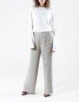 Широкие брюки плиссе из хлопка NTKA_NPants Plisse-RE, фото 1 - в интеренет магазине KAPSULA