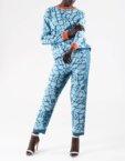 Широкие брюки плиссе из хлопка NTKA_NPants Plisse-BL, фото 1 - в интеренет магазине KAPSULA