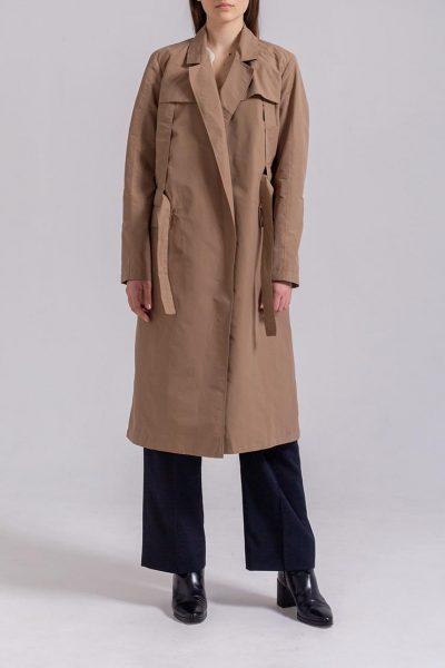 Плащ прямого силуэта PPMT_PM-46_beige, фото 1 - в интеренет магазине KAPSULA