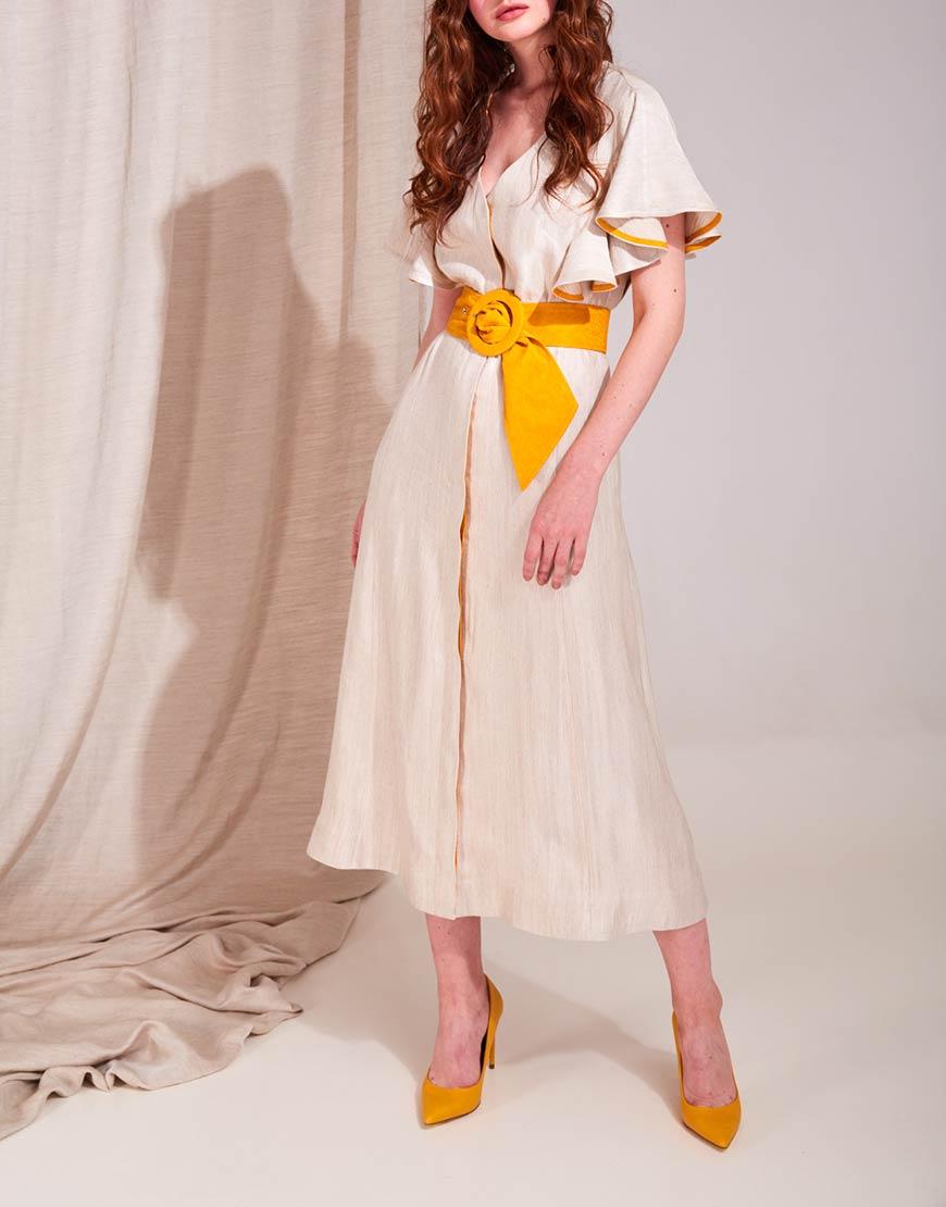 Платье миди на подкладе
