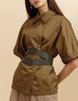 Платье свободного кроя с поясом INS_SS19_04, фото 4 - в интеренет магазине KAPSULA