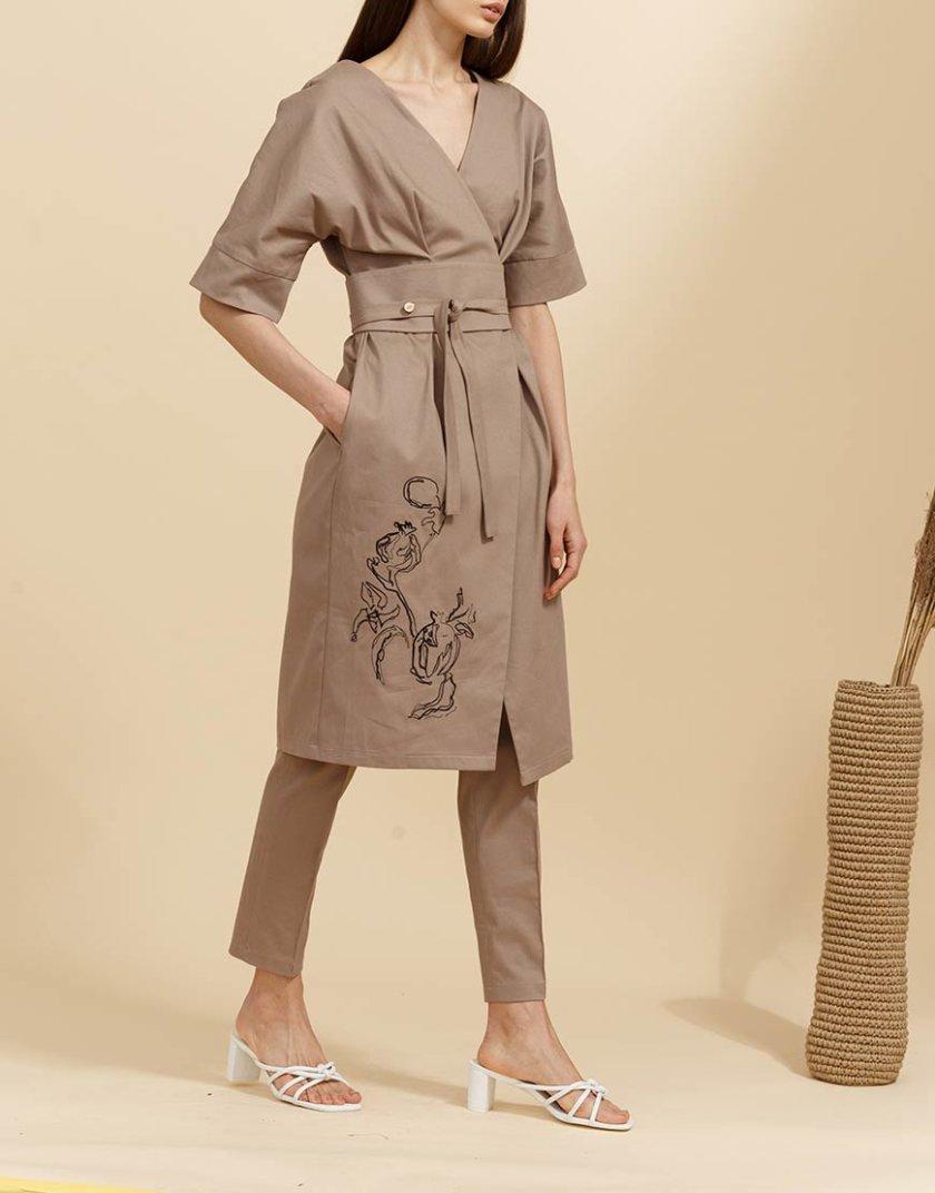 Платье на запах с поясом INS_SS19_07_01, фото 1 - в интернет магазине KAPSULA