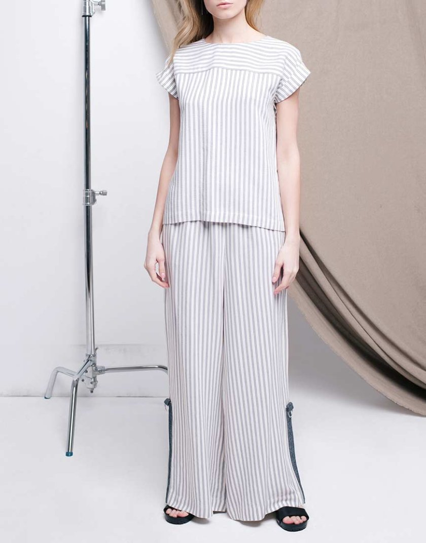 Костюм с широкими брюками CYAN_TR_L04_TP_L04, фото 1 - в интернет магазине KAPSULA