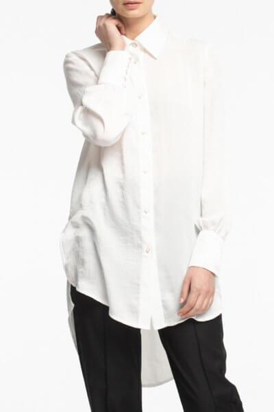 Рубашка с удлиненной спиной ALOT_020147, фото 4 - в интеренет магазине KAPSULA