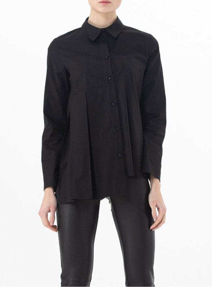 Хлопковая рубашка асимметричного кроя ALOT_020143, фото 1 - в интернет магазине KAPSULA
