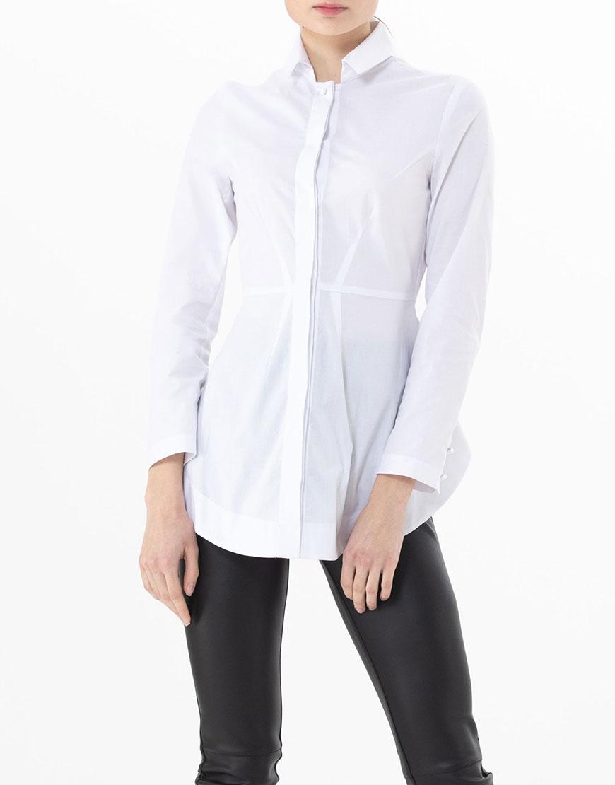 Приталённая рубашка из хлопка