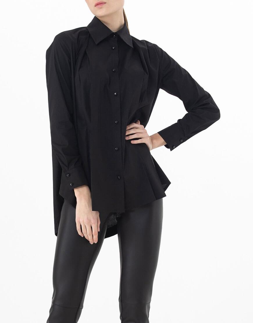 Удинённая сзади рубашка ALOT_020141, фото 1 - в интеренет магазине KAPSULA